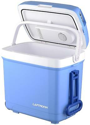 30L Trolley Cool Box Electric Travel Cooler Camping Picnic 12V 240V Adapter