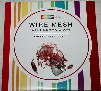 WIRE MESH DVD crafts tuition  gemstones beads tools JEWELLERY GEMMA CROW WEDDING