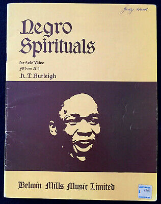 Burleigh With a CD of Recorded Pian 000230110 25 Spirituals Arranged by Harry T