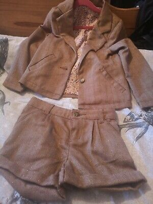 Next Girls Tweed Jacket And Shorts Aged 5-6