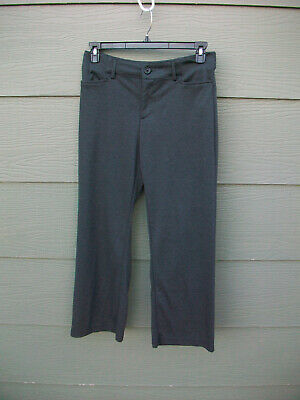 Riders Lee Womens Pants Sz 12 Petite 28L Straight Knit Career Gray Poly Stretch