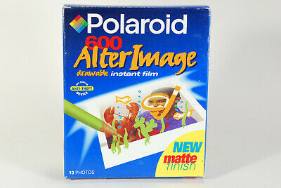 Pack of Polaroid 600 ALTER IMAGE DRAWABLE Instant Film 10 Photos EXPIRED 01/00