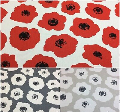 Iliv/SMD VALLMO POPPY Floral Cotton Print Fabric.Upholstery/Curtains/Crafts.
