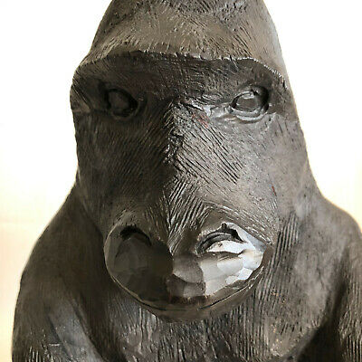 Hand Carved Gorilla by Mutiso Epcot Artist in Residence Disney Africa Outpost