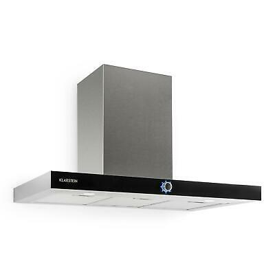 Campana Inoxidable Pared Extractor Cocina Cristal LED Profesional Luces Humos