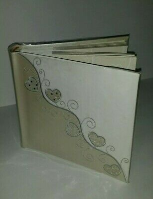 White Wedding Fetco Home Decor Photo Album Scrapbook 4x6 Embroidered Hearts