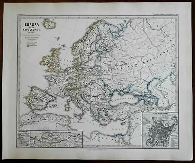 Napoleon's Europe French Empire Rhine Confederation 1877 Moscow Russia map
