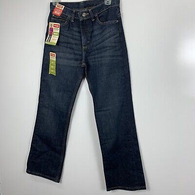 New Wrangler 5 Star Jeans  Boys Size 16 Regular Adj Waist relaxed fit Boot (D5)