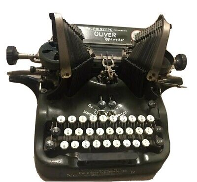 The Printype Oliver Typewriter Co. No. 9 Standard Visible Typewriter Antique!