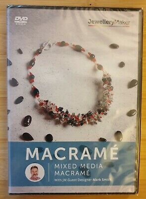 MIXED MEDIA MACRAME craft tuition DVD gemstones beads tools MARK SMITH JEWELLERY