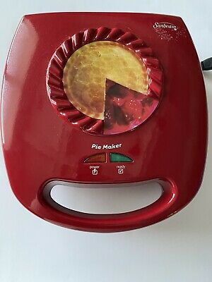 Sunbeam Mini Pie Quiche Pizza Pot Pie Dessert Maker, Red