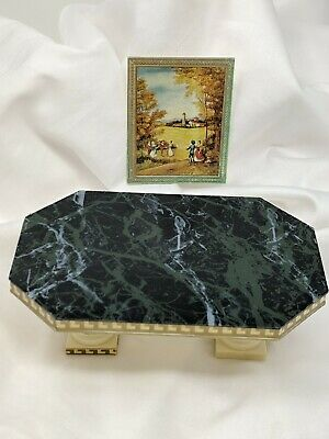 Vtg IDEAL Petite Princess Miniature Dollhouse Fantasy Furniture Dining Table +