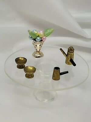 Vtg IDEAL Petite Princess Miniature Dollhouse Fantasy Furniture Coffee Table Set