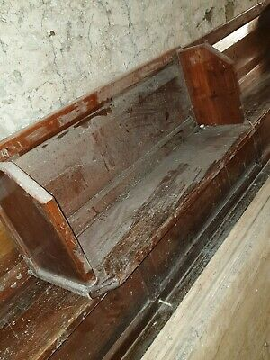 Church Pew Bench Seat Antique pitch pine ideal for porch. no base or legs