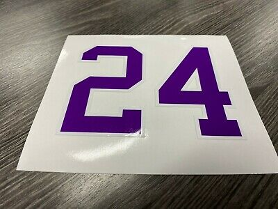KOBE BRYANT #24 LA Lakers NBA Basketball Vinyl Decal Sticker Bumper Car T