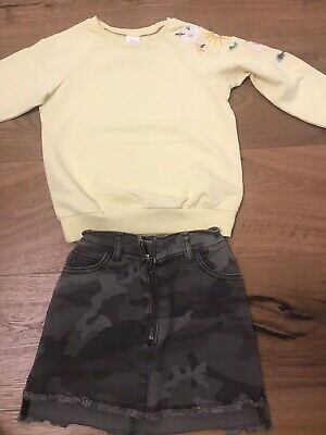 Girls Outfit Next Moro Skirt And Top Size 3-5