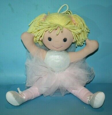14 Delton Products Yarn Hair Ballerina Soft Cloth Doll with Removeable Clothes