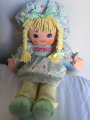 """20/"""" CHERRY LOLLYPOP Soft Fabric Rag Doll Yarn Hair Embroidered Face Nice Quality"""
