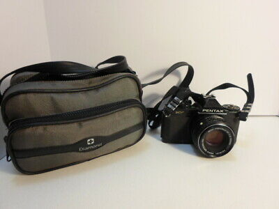 Pentax MV 35MM  Film Camera Body And Lens Untested with Case