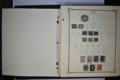 Worldwide Album Page LOT: BRAZIL Hundreds of Stamps SEE 60 SCANS $$$$
