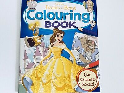 Disney Princess Beauty And The Beast Children's Colouring Book ~ New.