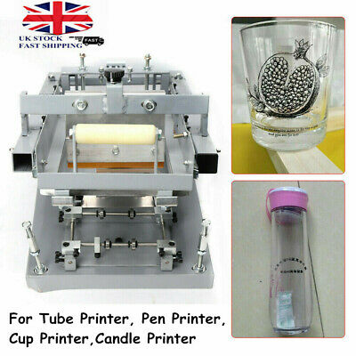 Manual Round High Quality Single color Screen Printer Candle Printer Cup Printer