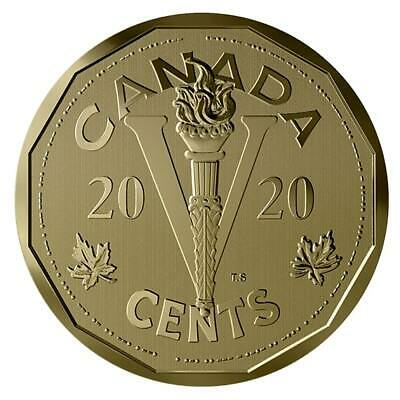2020 Canada Victory Nickel Bronze 5 cent Canadian home front - mint fresh!