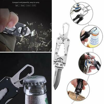 Mini Survival Tactical Multi Functional Keychain Folding Pocket Knife EDC Tool