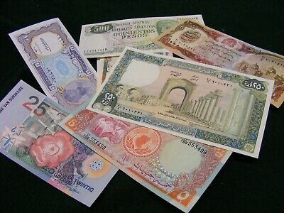 Lot of 12 Uncirculated World Banknotes, all diff...(A)..Better lot.