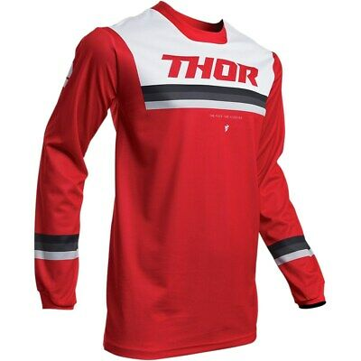 Thor Jersey Pulse Pinner S20 red/white Enduro Fahrerhemd