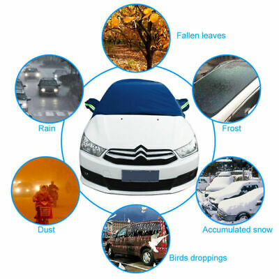 Half Top Waterproof Car Cover Breathable Windscreen SUV Protection Anti Snow UK