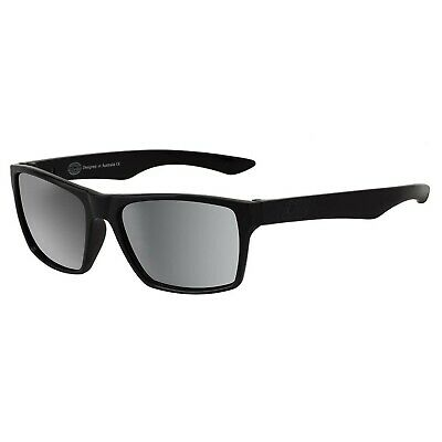 Dirty Dog Vendetta Satin Black Silver Polarised Sunglasses - SAVE 60%
