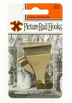 X Picture 12854 Picture Rail Hook Solid Brass Blister Card (Card)