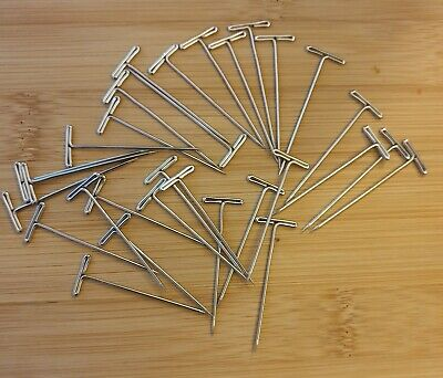 Macrame T pins lot 30 metal pins for jewellery making crafts