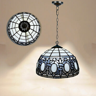Home Decor Hand Crafted Antique Tiffany Style Pendant Lamp  Stained Glass Shade