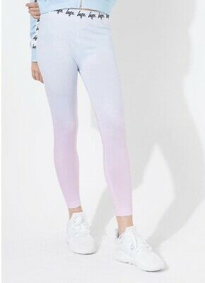 HYPE PINK SPECKLE PAINT GIRLS LEGGINGS / 11-12 Yers