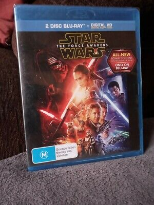 Star Wars The Force Awakens 2 Disc Blu ray Region FREE   NEW  AND UNSEALED