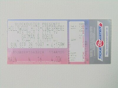 Batman & Robin at the Hollywood Hits Cinesphere 28/09/97 Ticket Stub Collectible