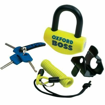 Oxford Boss Motorcycle Motorbike Disc Lock Fluorescent Yellow OF39