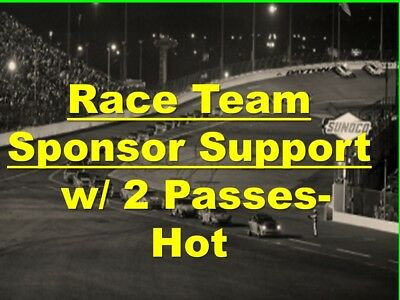 SONOMA- Sponsor Support of NASCAR Cup Team w/ 2-Passes, Hot Garage