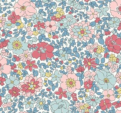 Arley Gardens Spring Show  Blue & Pink Liberty Fabric FQ + More 100% Cotton
