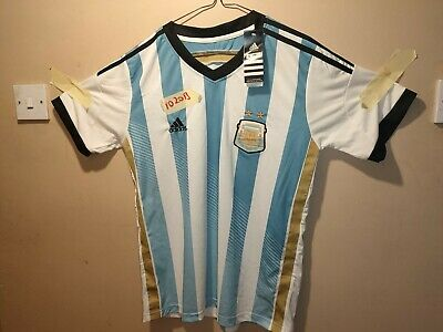 Authentic Adidas Argentina home football shirt 2013/14 UK small adult bnwt
