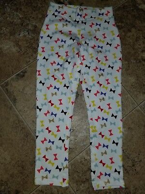 New Girls Member's Mark Leggings 1 Paid Whiet with Bows Gold Black Blue Yellow 4
