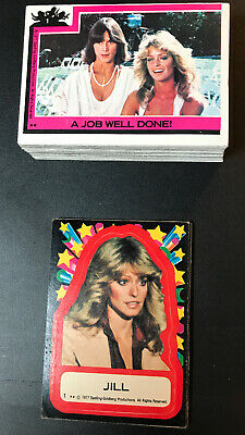 1977 Topps Charlies Angels Series 1 Complete Card Set (55) & Stickers Set (11)