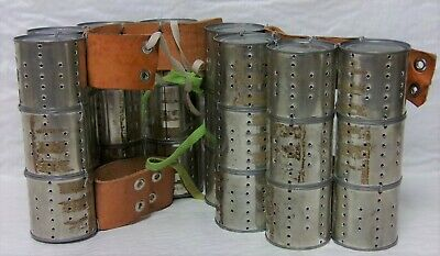 Native American Indian Girls Ceremonial Stomp Dance Cans 24 Shakers 3X4 Leather