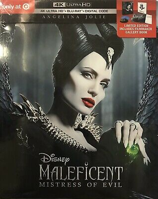 MALEFICENT: Mistress of Evil Exclusive (4k HD+Blu-ray+Digital+Gallery Book) NEW!