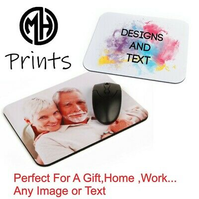 AA Personalised Custom PHOTO / LOGO Mouse Mat Pad PC Computer Laptop Gift Gaming