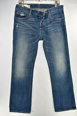 Abercrombie Fitch Baxter Low Rise Slim Boot Mens Jeans Size 30x30 Meas. 32x32