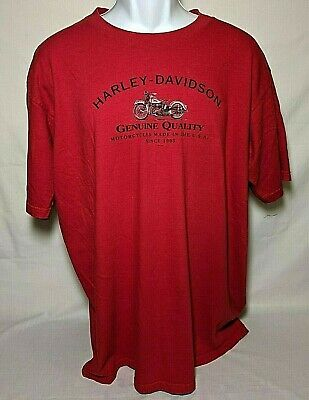 Harley Davidson Men's Las Vegas Nevada Spell Out Logo Red T-Shirt Size XL