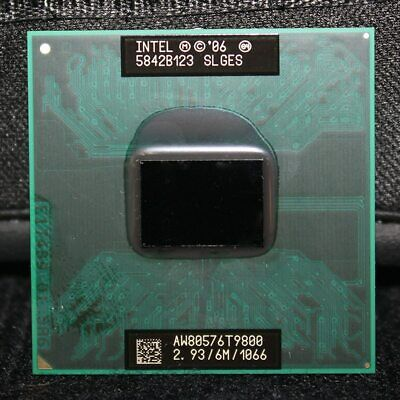Intel Core 2 Duo  T9800  2.93//6M//1066 SOCKET 478 WITH THERMAL PASTE USA SELLER